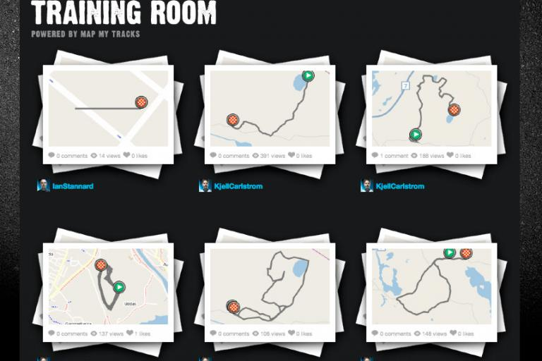 Team Sky Training Room at Map My Tracks