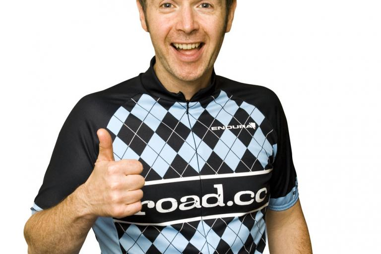 road.cc jersey as modelled by Tony