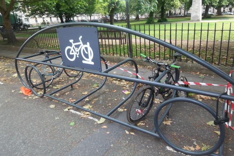 Car shaped bike docking