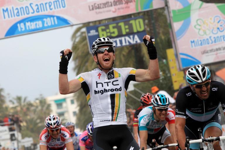 14 Matt Goss celebrates winning the 2011 Milan San Remo LaPresse RCS Sport .jpg