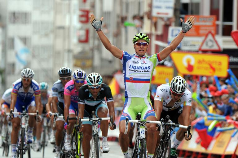 Peter Sagan wins Stage 12 of the 2011 Vuelta (copyright: Tour of Spain/Graham Watson).jpg
