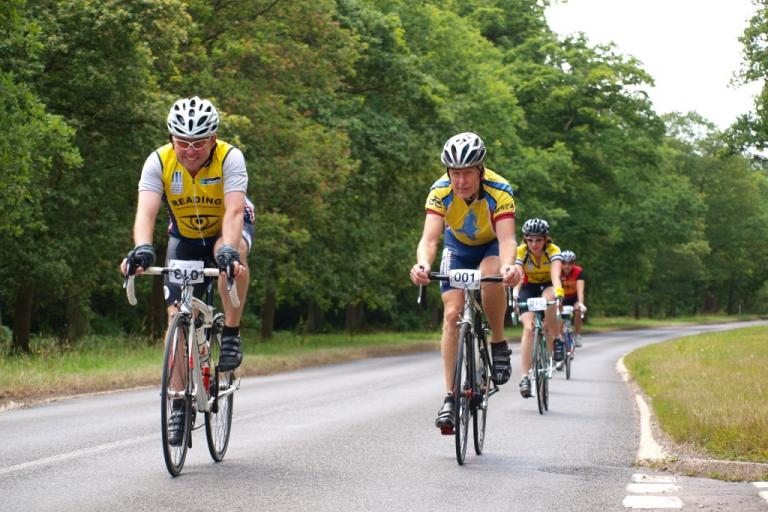 Anthony Maynard Sportive 2010 - A group including Dave Maynard, Anthony's father, begin the last few miles of riding