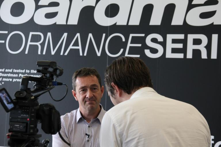 Chris Boardman being interviewed