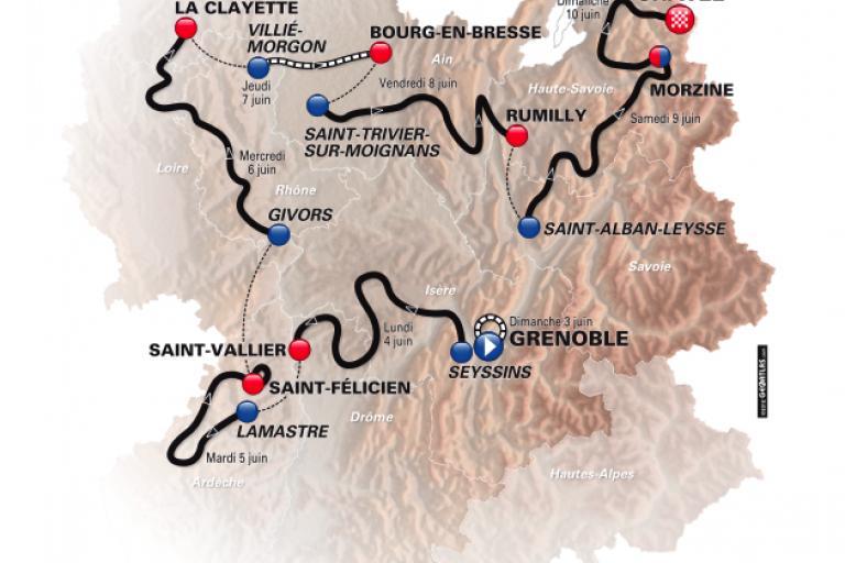 Critérium du Dauphiné 2012 parcours