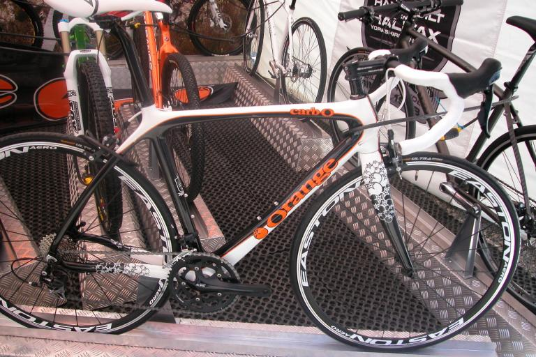 Orange carbO tarmac model at Eurobike.jpg