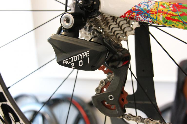 FSA prototype electronic groupset - rear mech