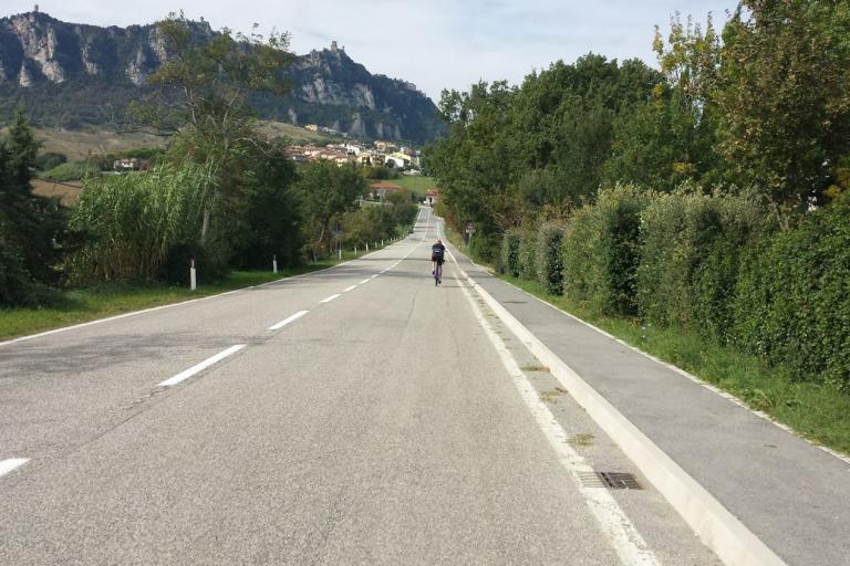Following the big man to San Marino
