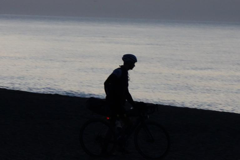 Dunwich Dynamo dawn breaking on beach