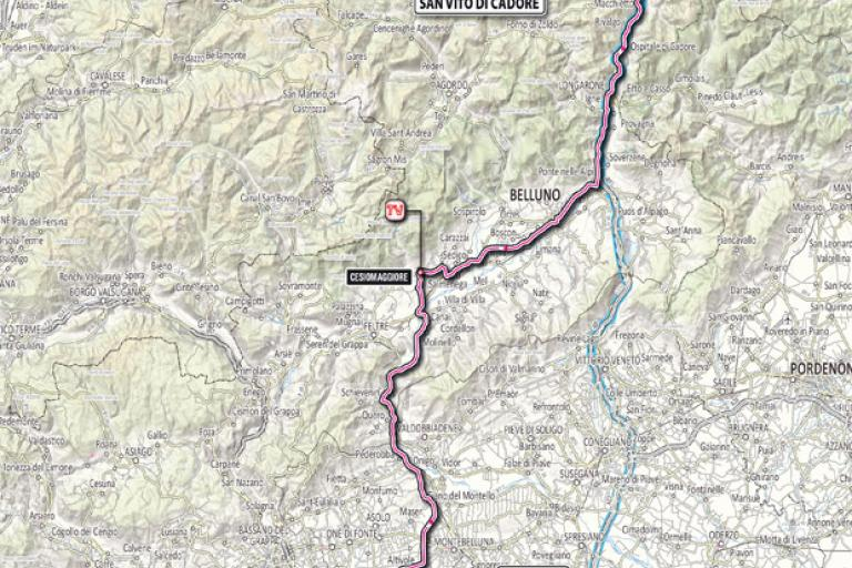 Giro 2012 Stage 18 map