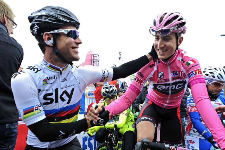 Giro 2012 S2 Mark Cavendish and Taylor Phinney (picture Gian Mattia D'Alberto:LaPresse:RCS Sport)