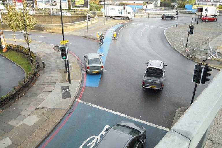 Bow roundabout - pic: London Cycling Campaign
