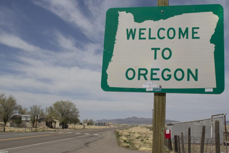 Welcome to Oregon (CC licesned via Flickr user Fred)