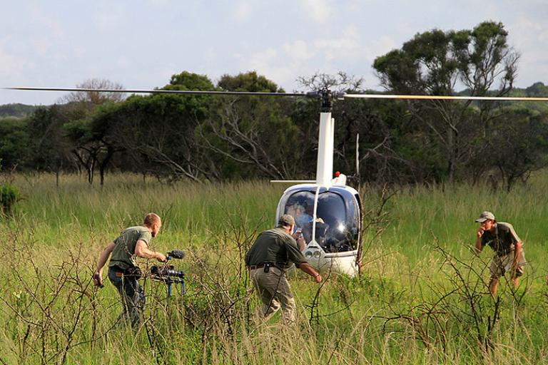 A TV crew attempts to apprehend a rogue helicopter (CC licensed by pennstatenews:Flickr)