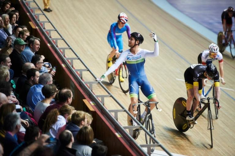 Adam Blythe at Longest Lap at Revolution Series in Manchester, January 2015 (picture credit Luke Webber)
