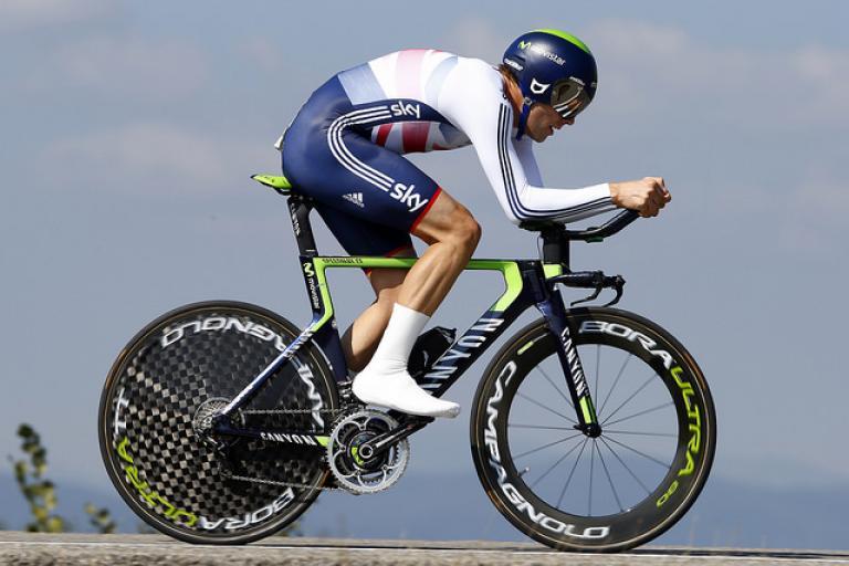 Alex Dowsett in 2014 Worlds TT (copyright Britishcycling.org.uk)