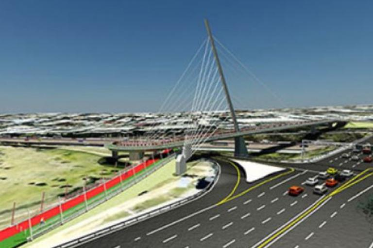 Artist's impression of Great Walk Bridge in Johannesburg