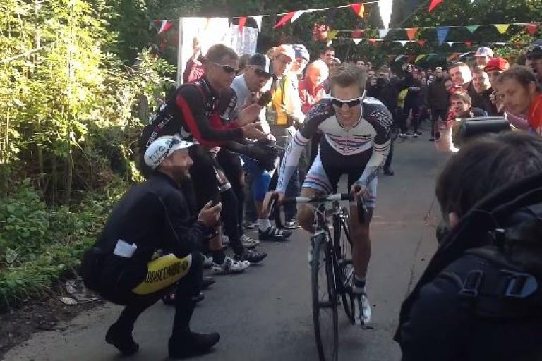 Bec Hill Climb 2013 promo still (source YouTube)