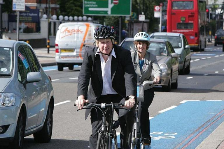 Boris Johnson aboard Old Bikey