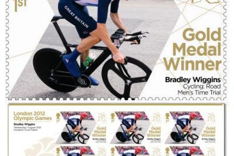 Bradley Wiggins gold medal commemorative stamp