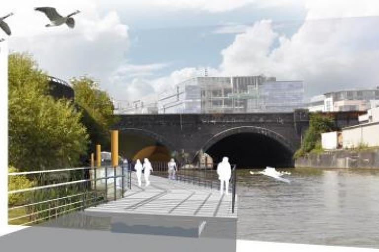 Bristol Temple Quarter Harbour Greenway impression
