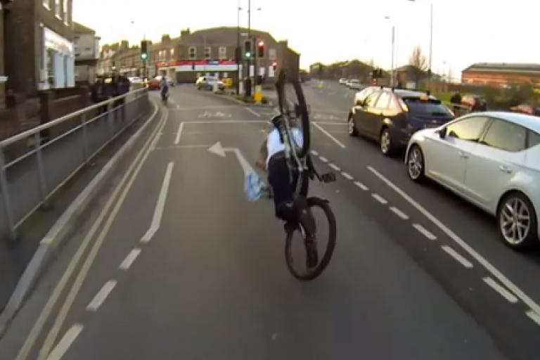CarefulCyclist - how not to change your jacket while riding a bike.png