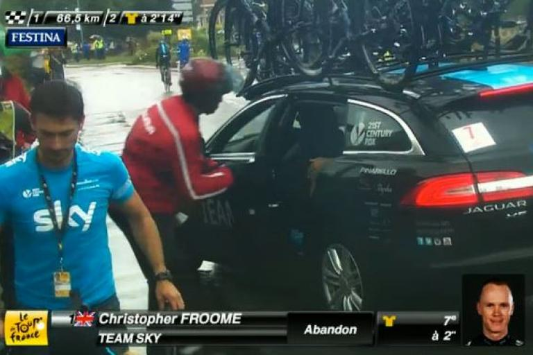 Chris Froome abandons 2014 Tour de France
