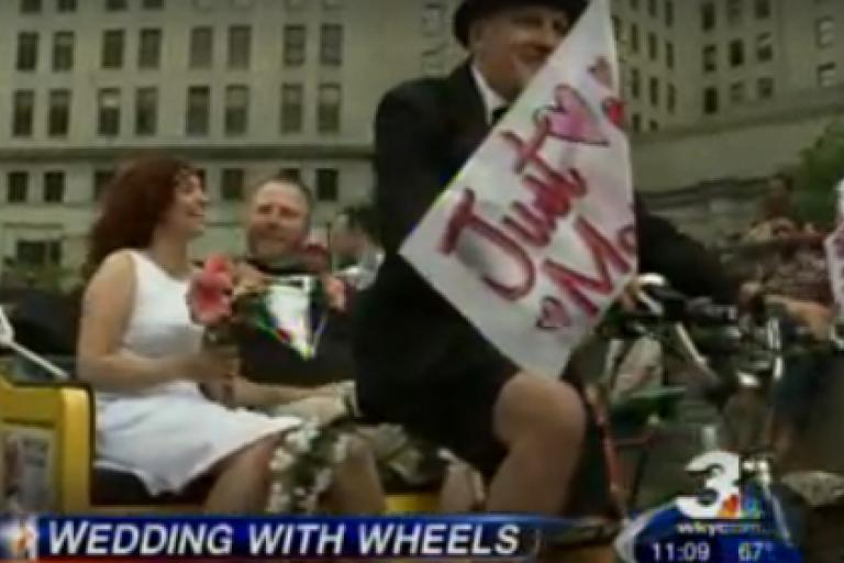 Cleveland Critical Mass wedding picture WKYC.jpg