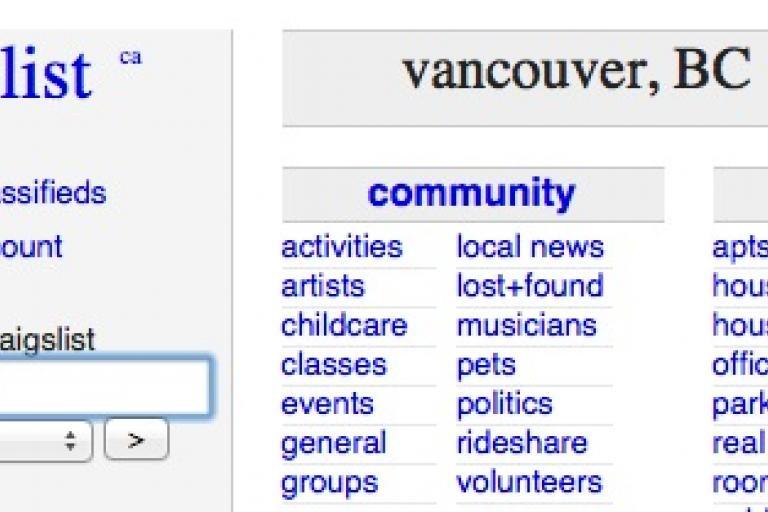 Craigslist Vancouver