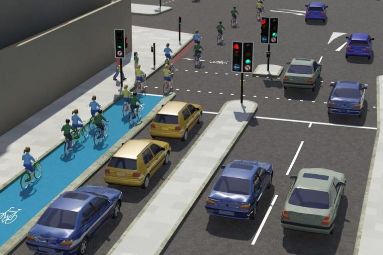 Cycle Superhighways plans - CS2 cycle junction