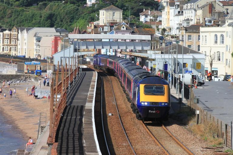 Dawlish Railway Station (licensed under CC BY-SA 3.0 on Wikimedia Commons by Geof Sheppard)