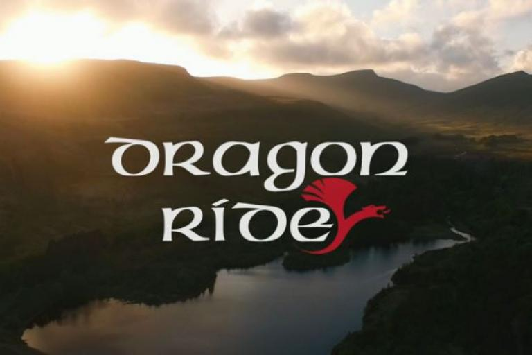 Dragon Ride logo (Human Race video still)