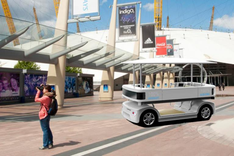 Driverless pod artist's impression by O2 Arena (picture Phoenix Wings).png