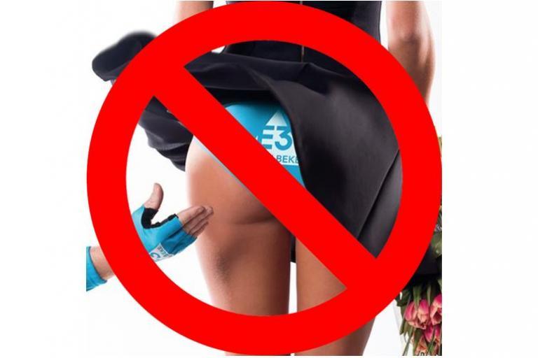 E3 Harelbeke poster banned