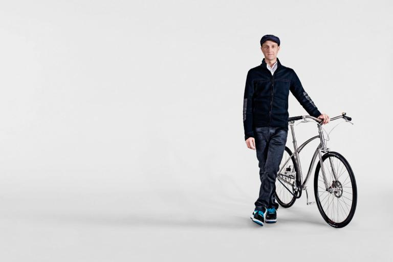 Ello founder Paul Budnitz with one of his bikes