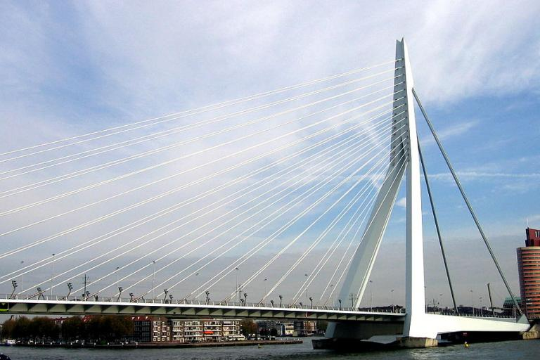 Erasmus Bridge (licensed CC BY 2.0 on Flickr by Tobias Michaelsen)
