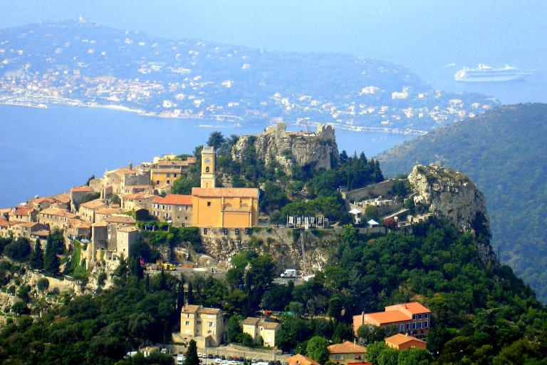 Eze from Grand Corniche (Wikimedia Commons)