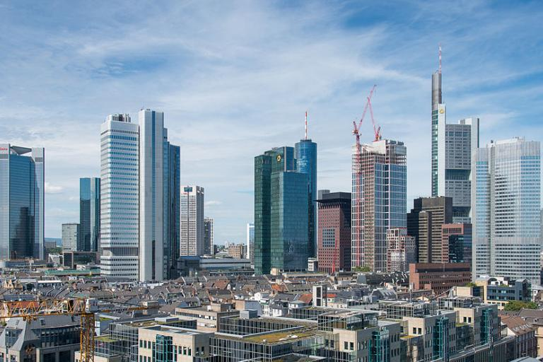 Frankfurt financial district (CC BY-SA 3.0 by Epizentrum)