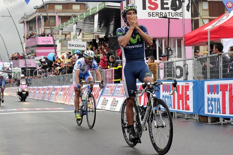 Giro 2012 S14 Andrey Amador wins in Cervinia (Gian Mattia D'Alberto - LaPresse - RCS Sport)