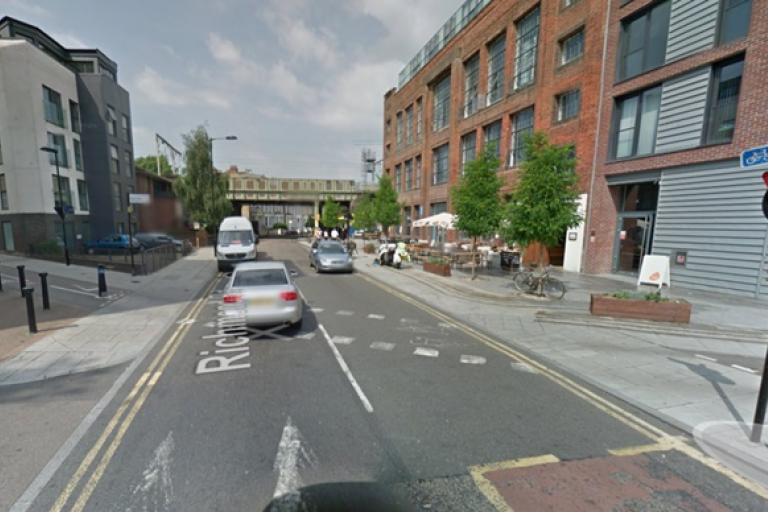 Google Streetview image of Richmond Road before work was completed