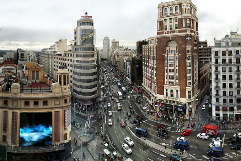 Gran Via Madrid (licensed CC BY 2.0 on Flickr by Jesus Solana)