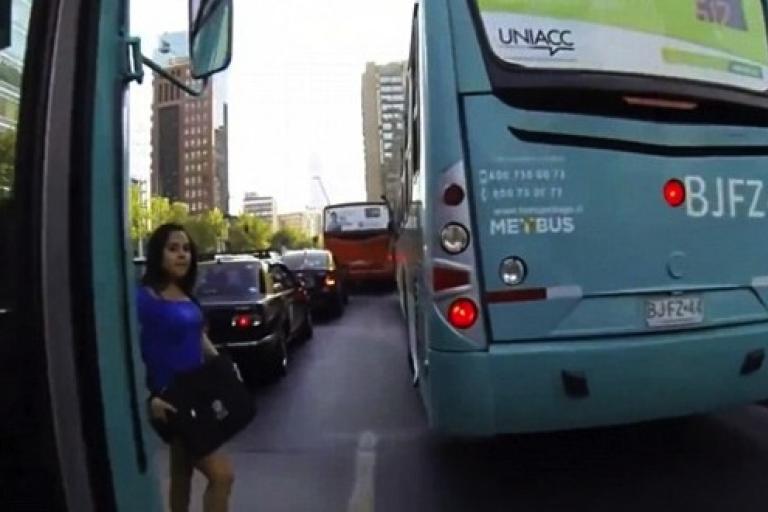 Helmetcam pedestrian collision