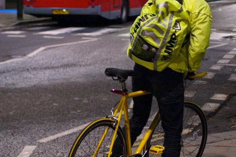 Hi Viz Cyclist London copyright Simon MacMichael