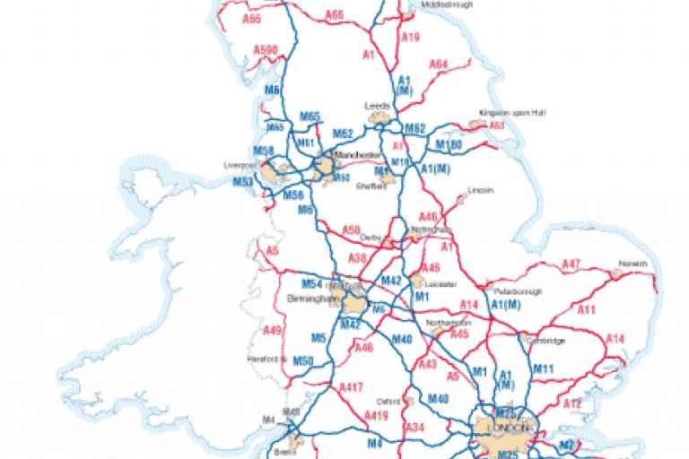 Highways Agency Network Map