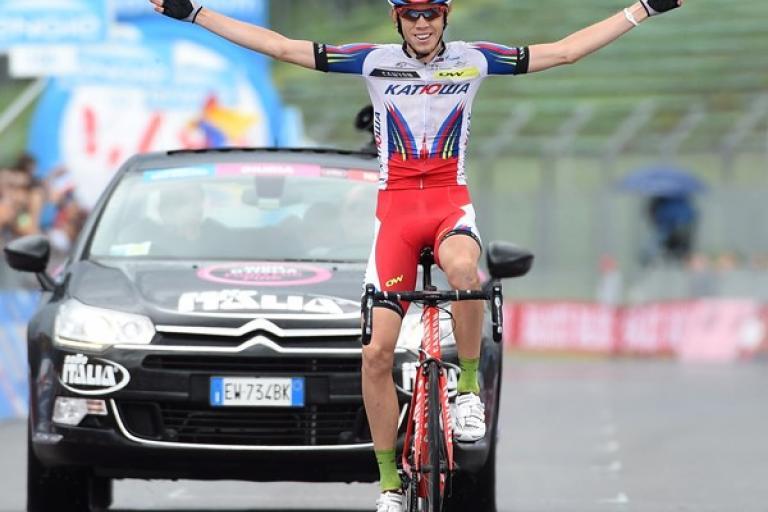Ilnur Zakarin wins Giro 2015 Stage 11 in Imola (pciture ANSA, Dal Zennaro)