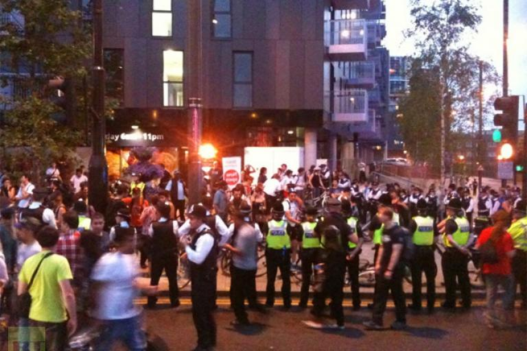Image from twitter.com @MetPoliceEvents