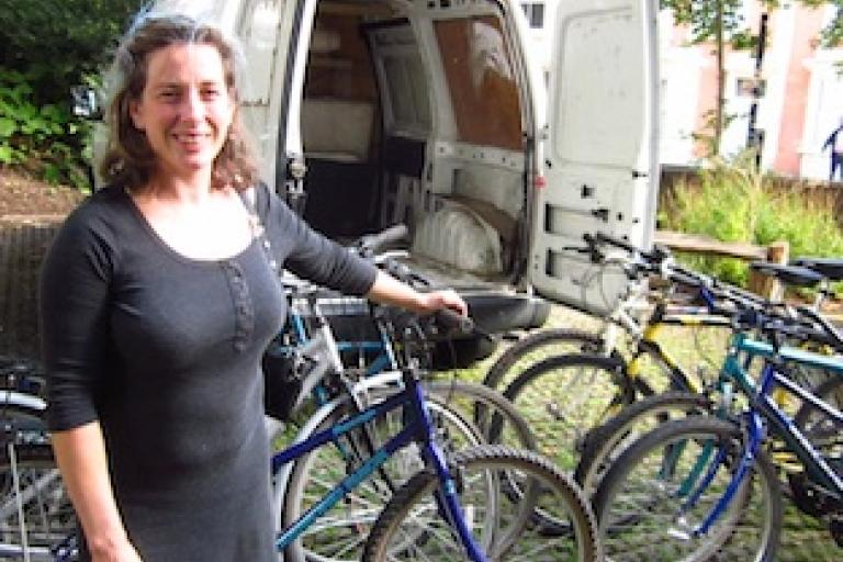 Imogen Pettitt (image via Bristol Bike Project)