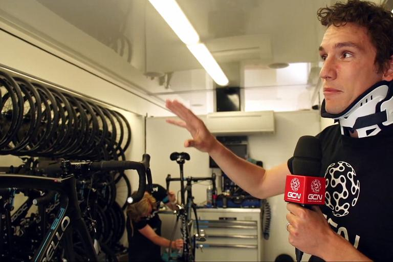 Inside the Team Sky mechanics' truck