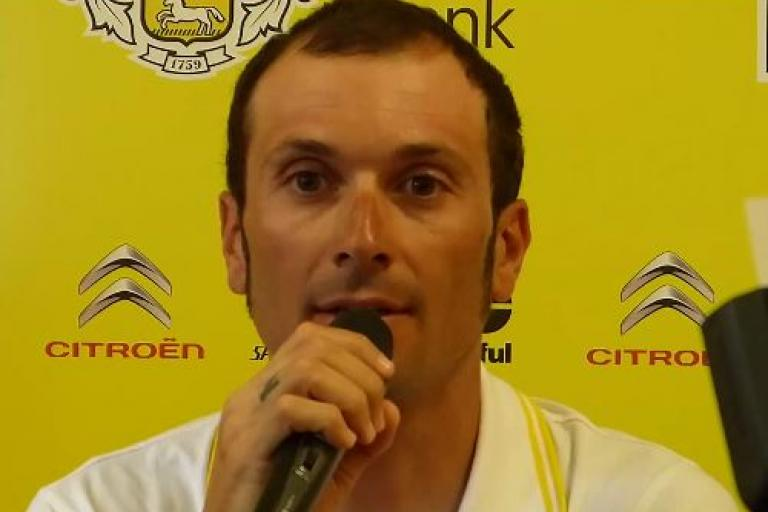 Ivan Basso press conference, TdF 2015 rest day one YouTube still