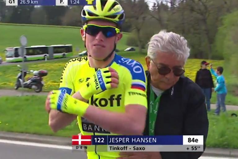 Jesper Hansen after being doored