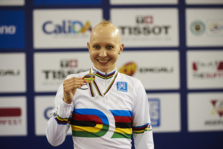 Joanna Rowsell, world individual pursuit champion 2014 (copyright Britishcycling.org.uk)